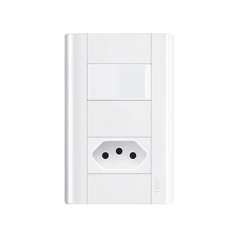 Interruptor Simples Com Tomada 2P+T 20A Modulare 1436 Fame