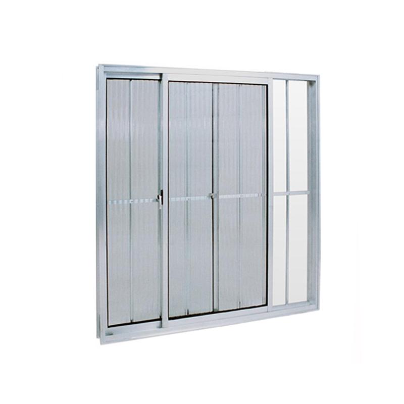 Janela Aluminio 1,00A x 1,00L 2 Folhas Com Grade 160 Clm