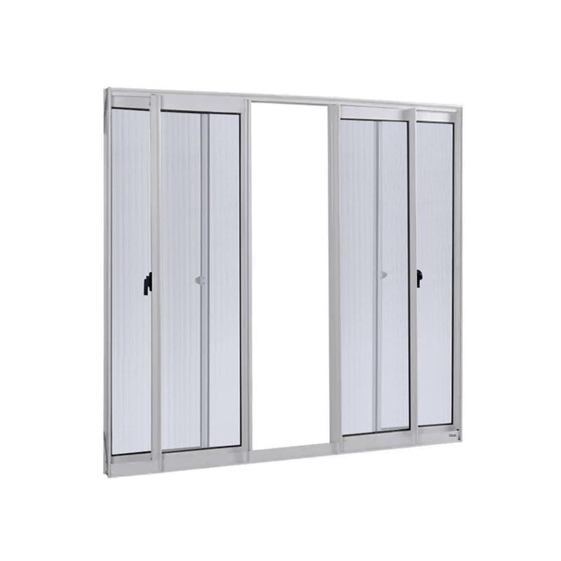 Janela Aluminio 1,00A x 1,20L 4 Folhas Sem Grade 113 Clm