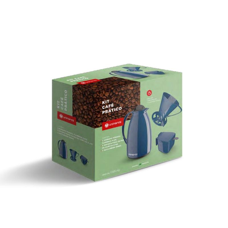 Kit Café Prático Azul Unitermi