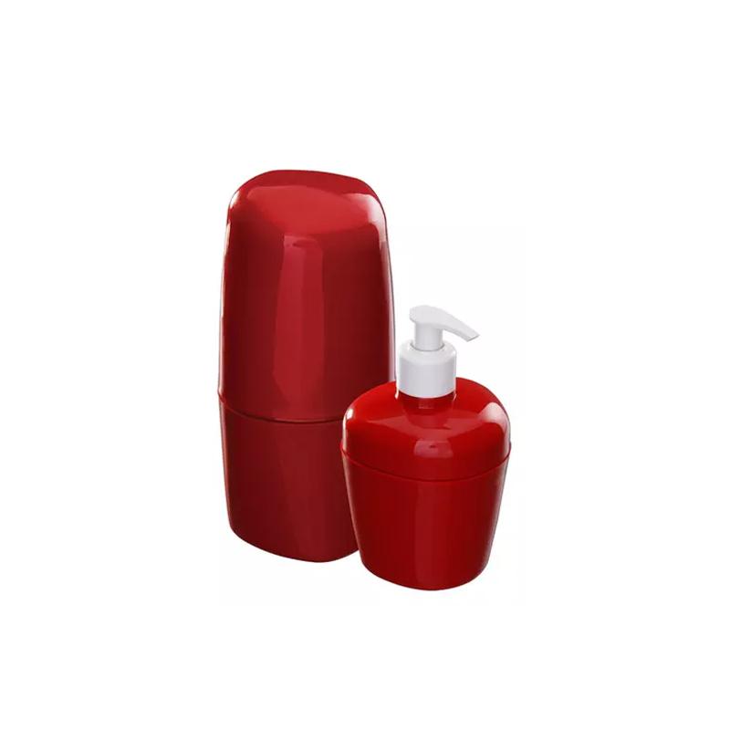 Kit Para Banheiro Com 2 Peças KBB1-2 Vermelho Astra