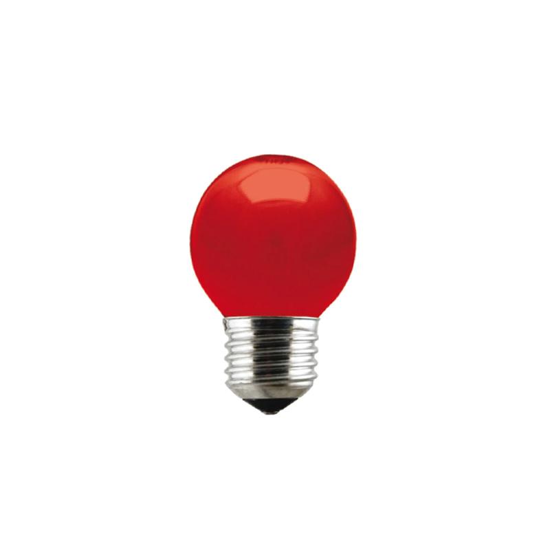 Lampada Bolinha 15W Vermelha 127V Taschibra