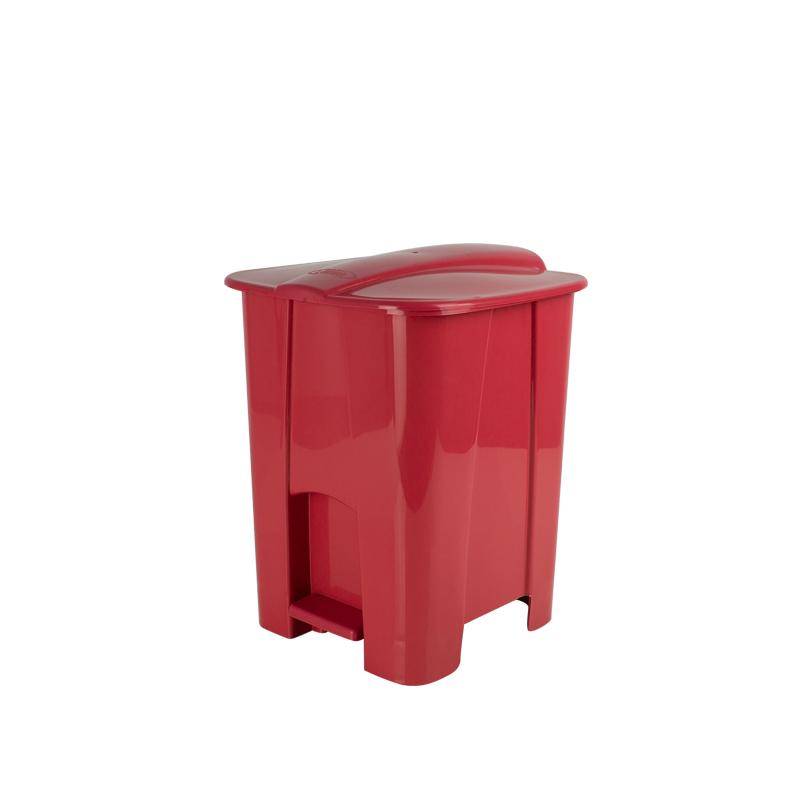 Lixeira Com Pedal 8L Vermelho 1857 Lumar