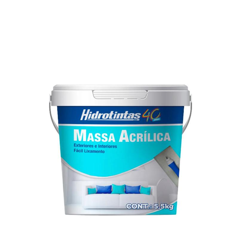 Massa Acrílica 5,5Kg Hidrotintas