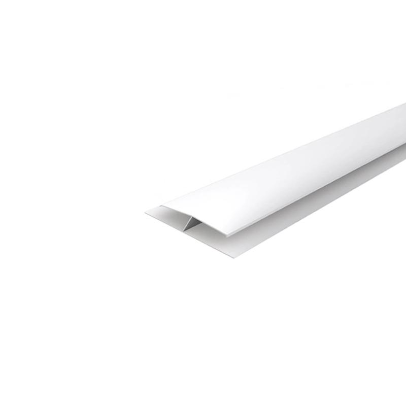 Perfil PVC Tipo H 6M Branco Araforros