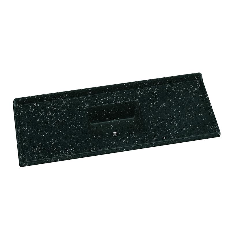 Pia Granito Sintetico Standard 120 x 50 Preto Escuro A.J. Rorato