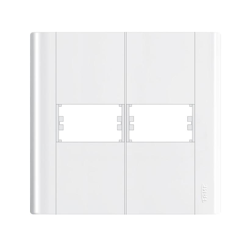Placa 4 x 4 Para 2 Modulos Modulare 0655 Fame