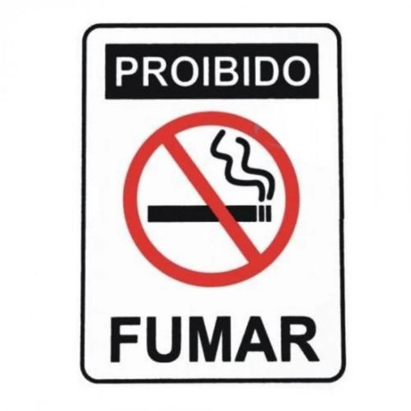 Placa Sinal Proibido Fumar 15X20 Fuzil