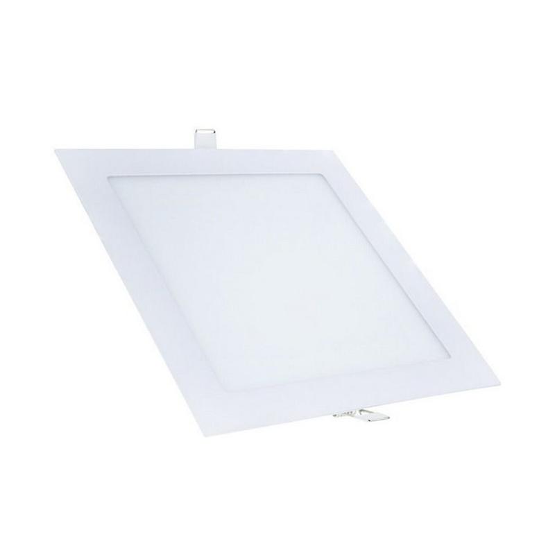 Plafon Embutir Led Branco Quadrado 18W 6500K Qluz