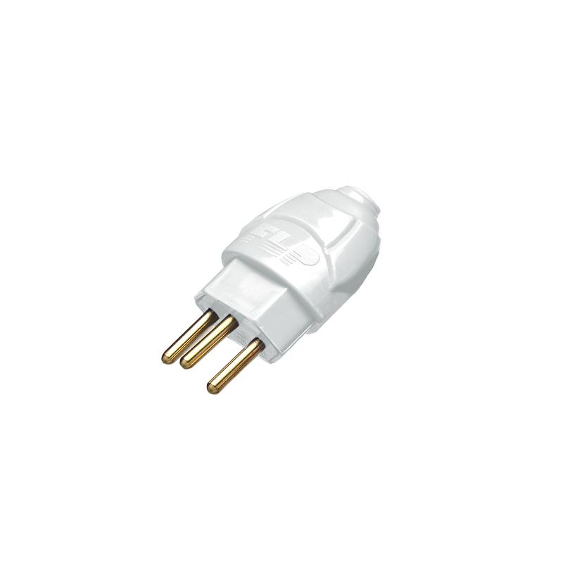 Plug Elétrico Macho 2P+T 10A Branco 1132047 Flp
