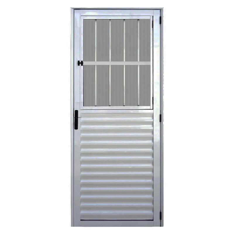 Porta Aluminio 2,10 x 0,80 Postigo Direita 173 Clm