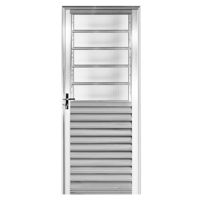 Porta Aluminio 2,10 x 0,80 Veneziana Com Basculante Direita 181 Clm