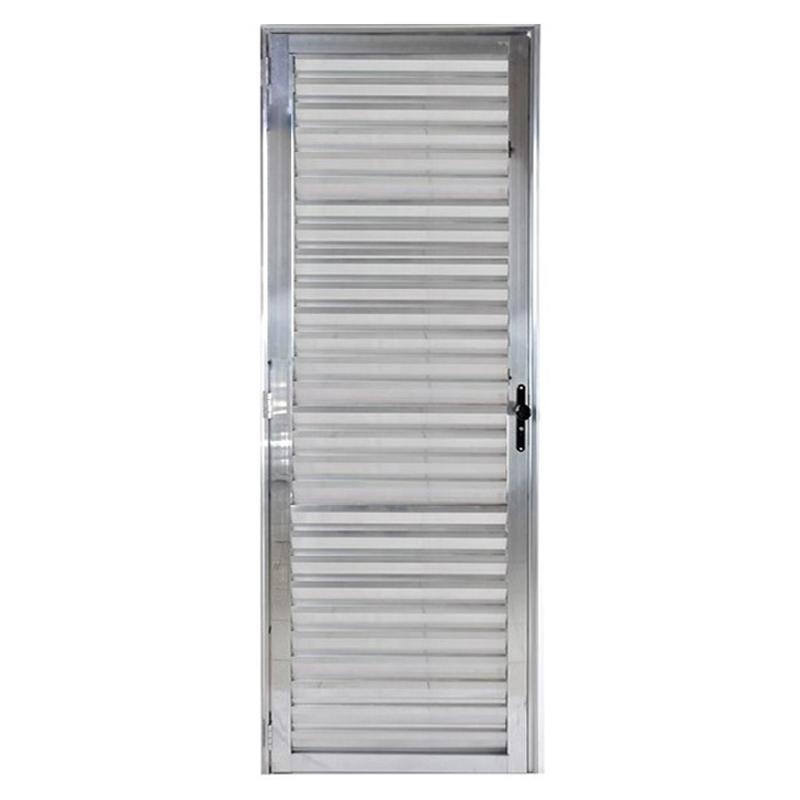 Porta De Alumínio 2,10A x 0,70L Veneziana Direita 309 Clm
