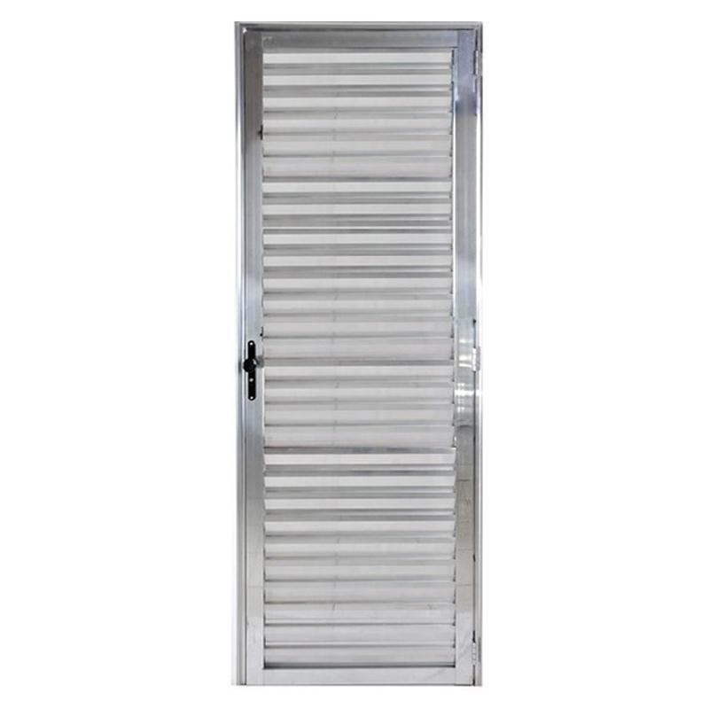 Porta De Aluminio 2,10A x 0,70L Veneziana Esquerda 309 Clm