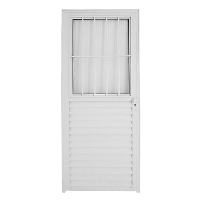 Porta De Alumínio 2,10A x 0,80L Postigo Direita 3703 Líder
