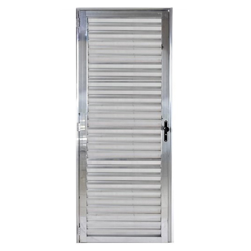 Porta De Aluminio 2,10A x 0,80L Veneziana Direita 206 Clm