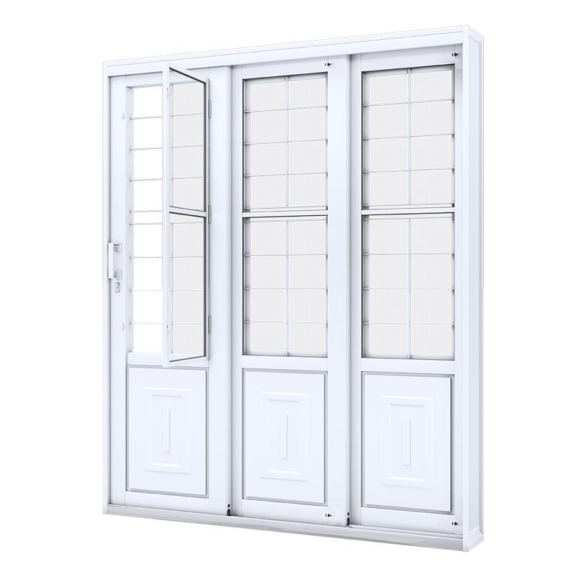 Portão Aço Branco 2,13A x 1,50L Balcão Lateral Direita 1721.2 Riobras