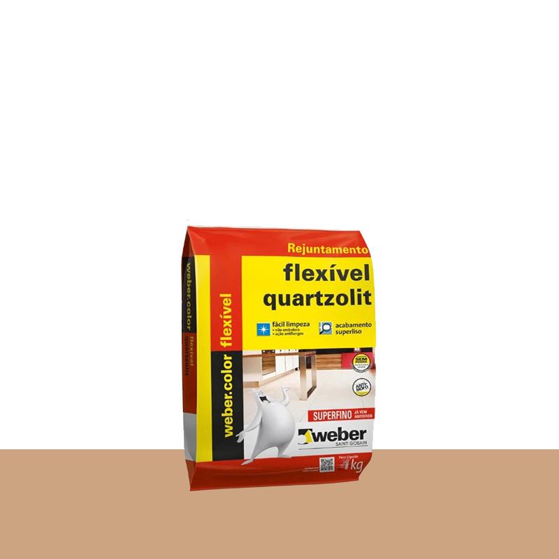 Rejunte Flexível 1Kg Caramelo Quartzolit