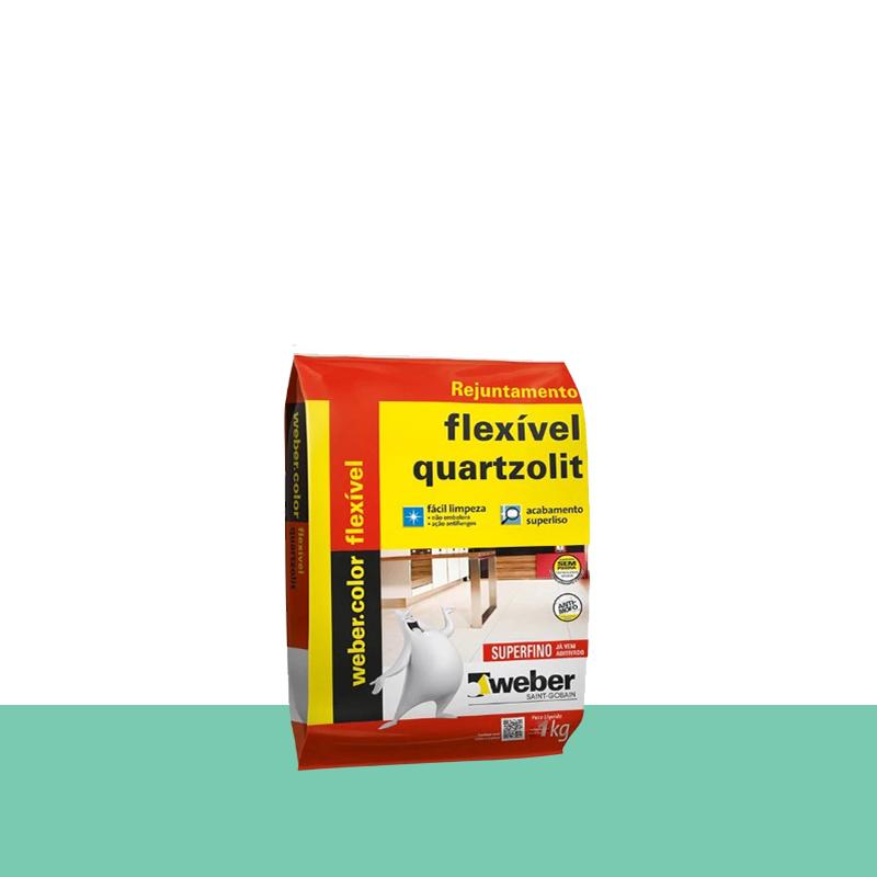 Rejunte Flexivel 1Kg Hortelã Quartzolit