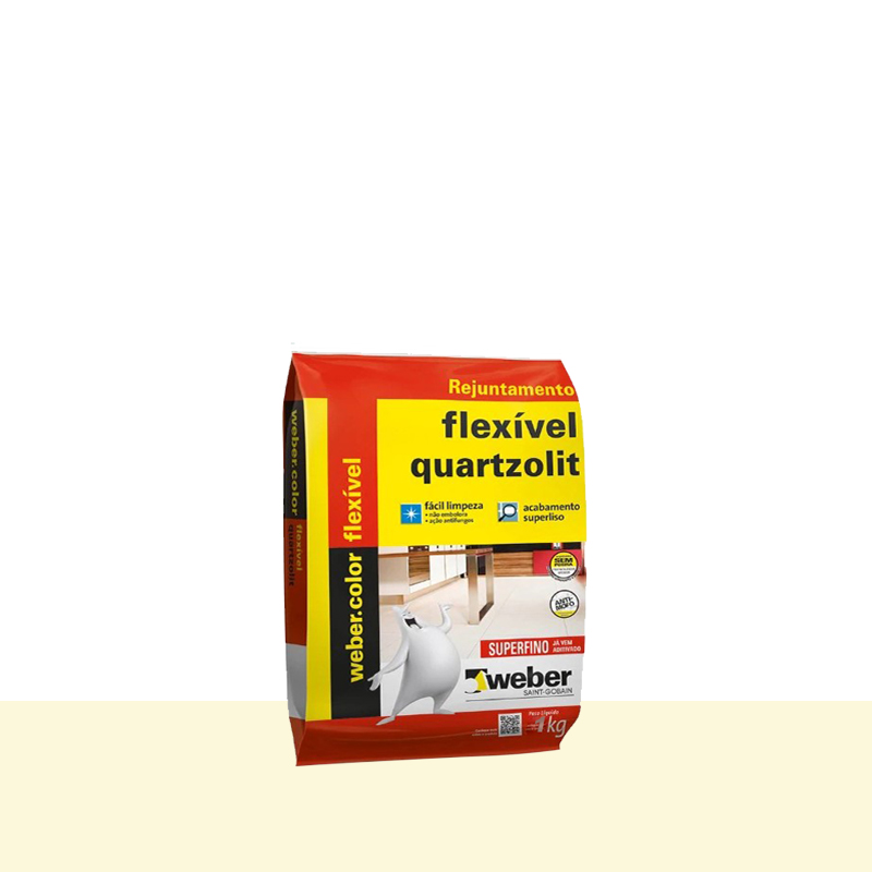 Rejunte Flexivel 1Kg Marfim Quartzolit