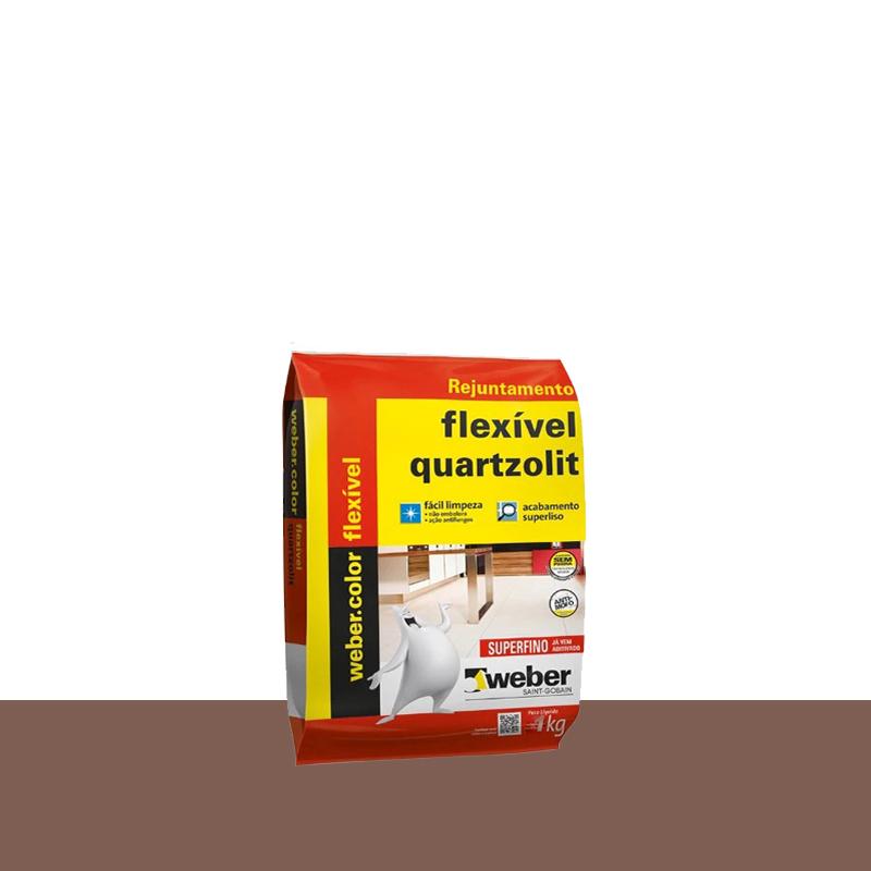 Rejunte Flexivel 1Kg Marrom Cafe Quartzolit