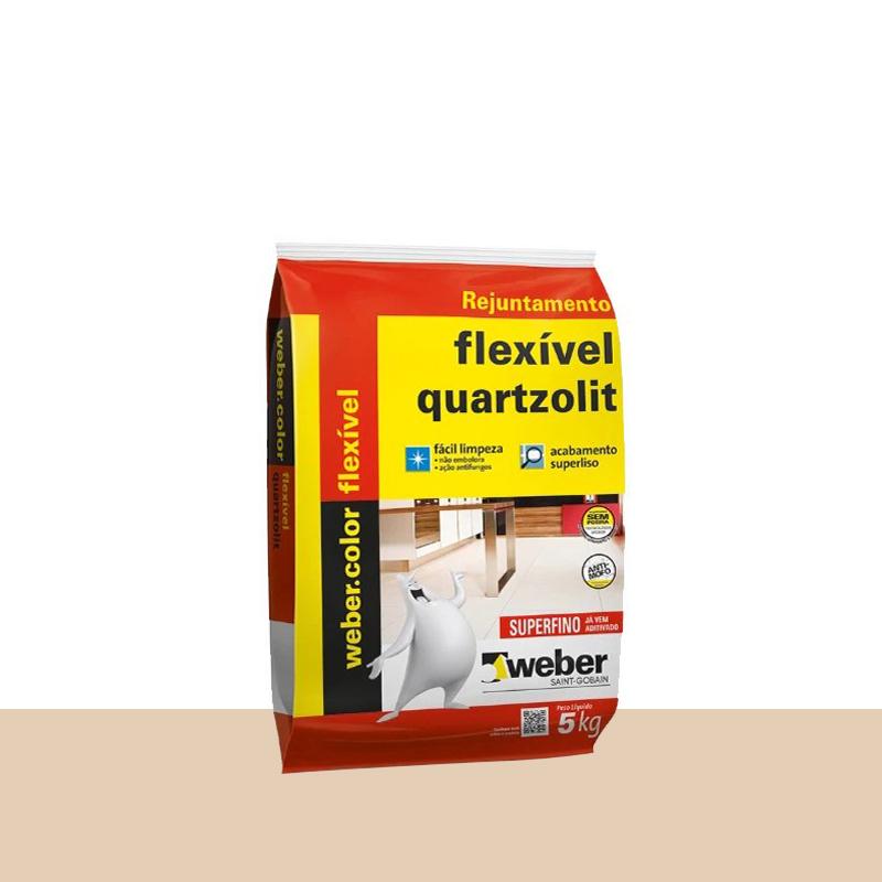 Rejunte Flexível 5Kg Bege Quartzolit