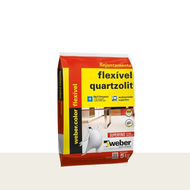 Rejunte Flexivel 5Kg Branco Quartzolit