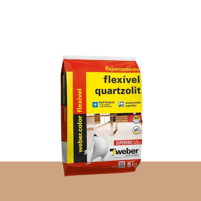 Rejunte Flexivel 5Kg Caramelo Quartzolit
