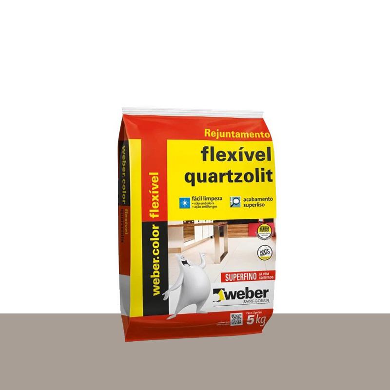 Rejunte Flexivel 5Kg Cinza Outono Quartzolit
