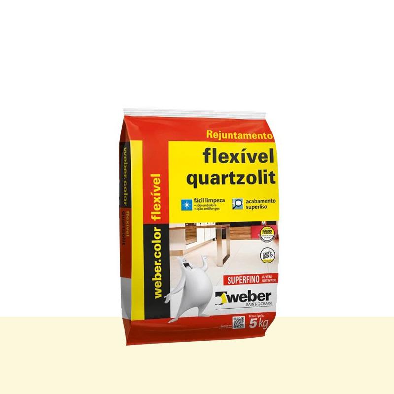 Rejunte Flexivel 5Kg Marfim Quartzolit