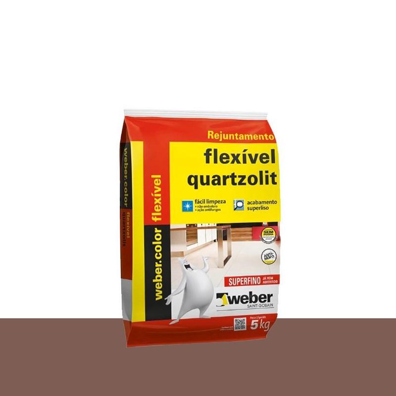 Rejunte Flexivel 5Kg Marrom Café Quartzolit