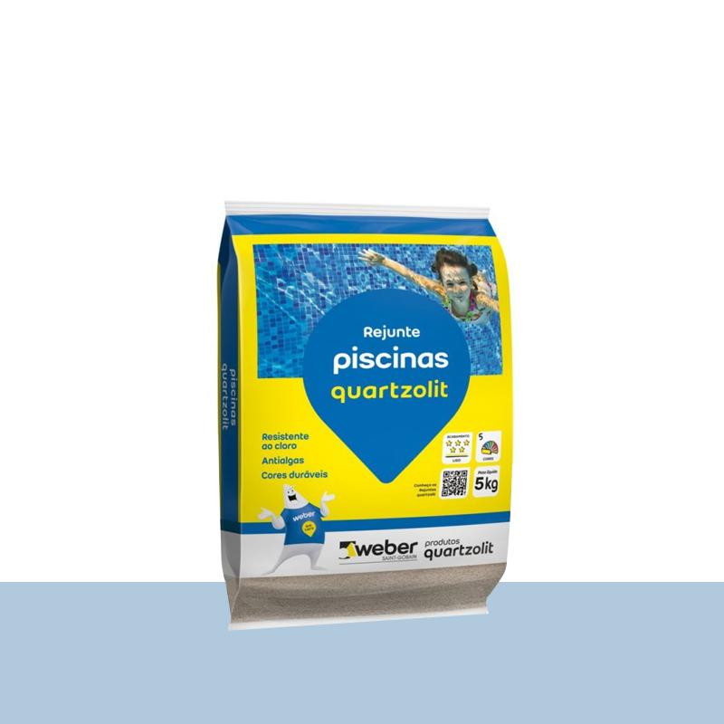 Rejunte Para Piscina 5Kg Azul Celeste Quartzolit