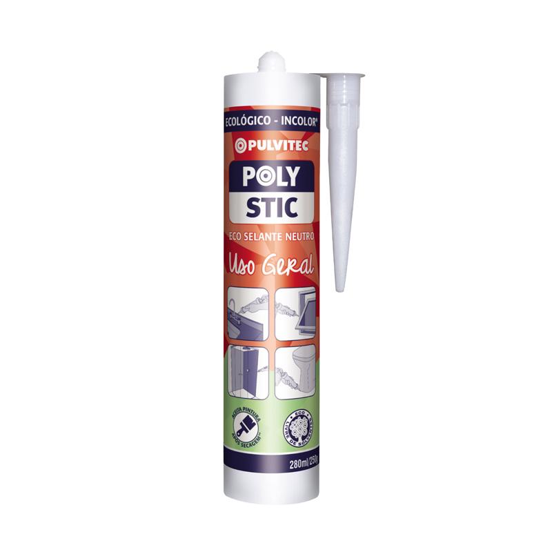 Silicone Polys Uso Geral 250G Incolor Pulvitec