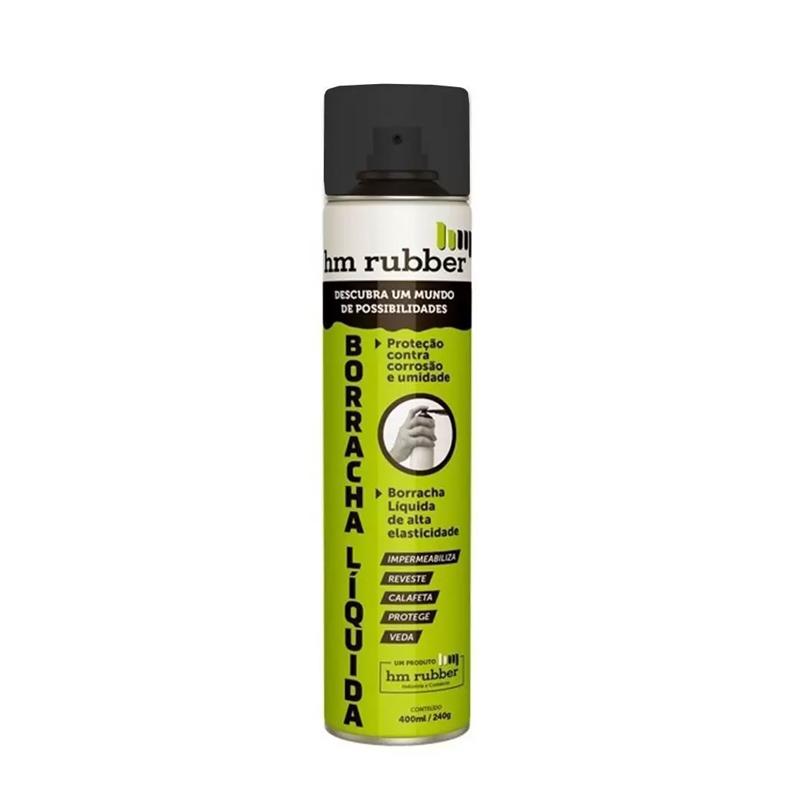 Spray Borracha Líquida 400mL Preto Hm Rubber