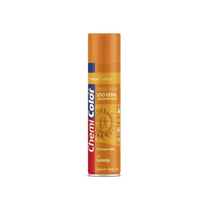 Spray Chemicolor 400mL Luminosa Laranja