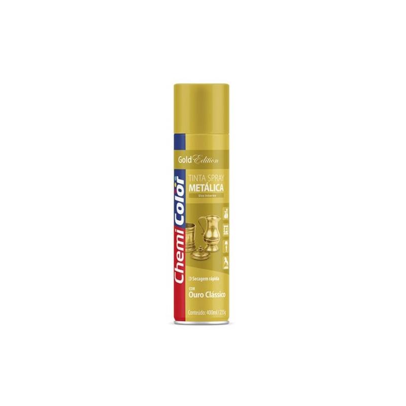 Spray Chemicolor 400mL Metalico Ouro Classico