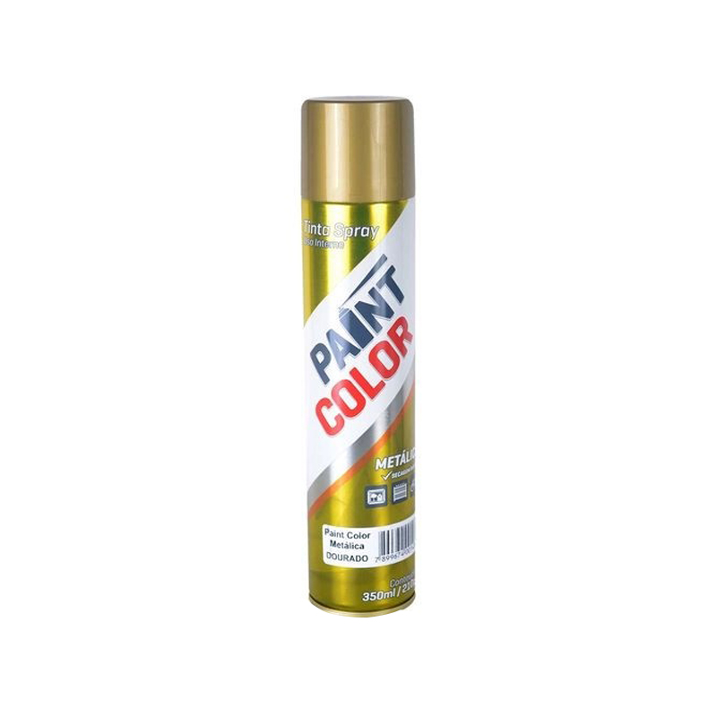Spray Paintcolor 350mL Metalico Dourado