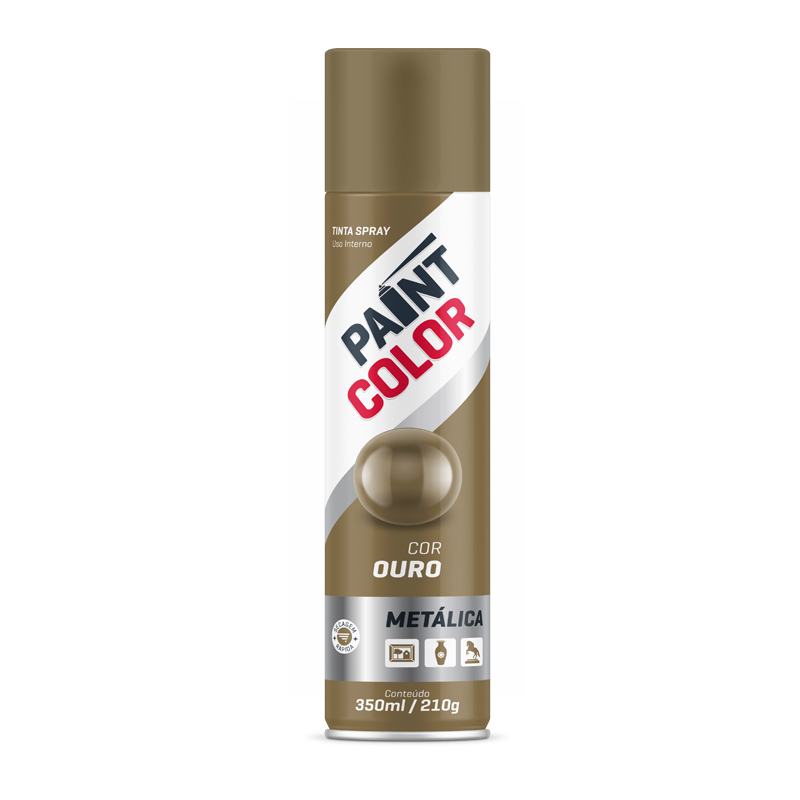 Spray Paintcolor 350mL Metálico Ouro