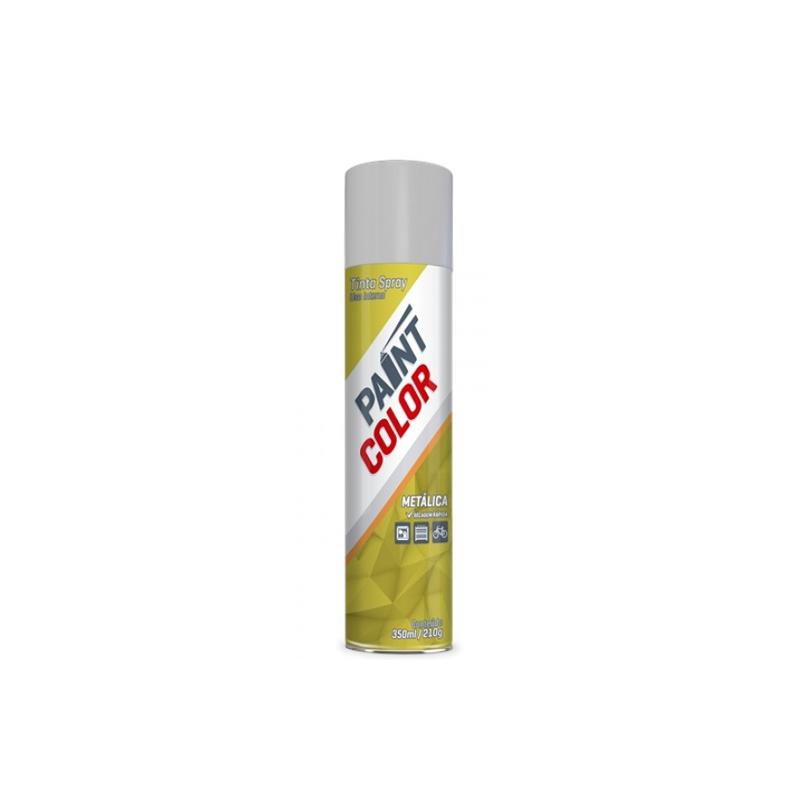 Spray Paintcolor 350mL Metalico Prata