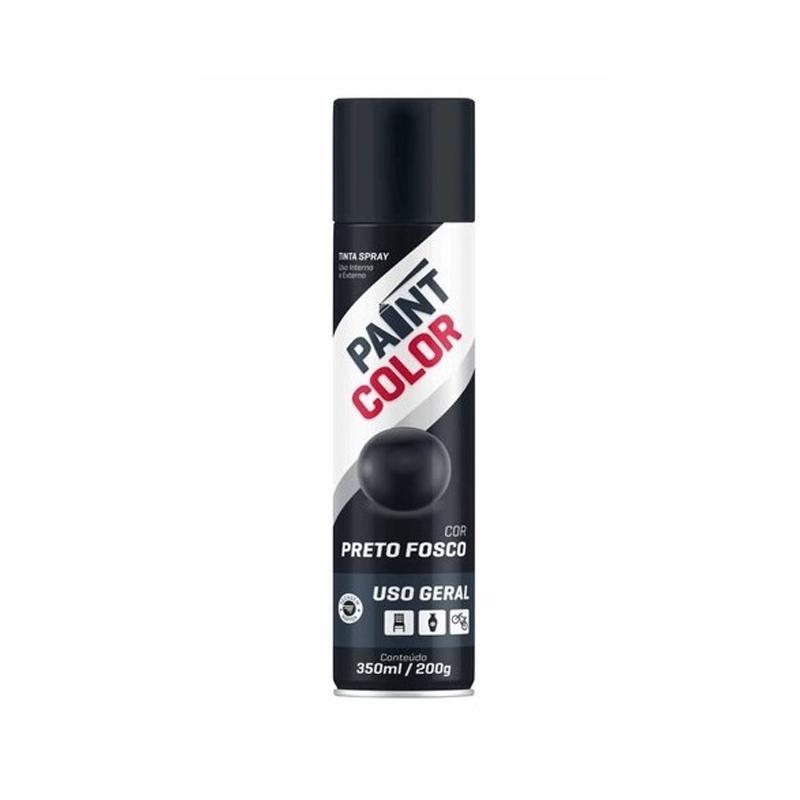 Spray Paintcolor 350mL Preto Fosco