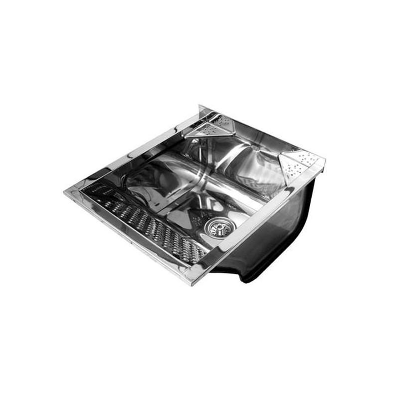 Tanque Aço Inox 61X51 46L Com Valvula Ts500 58584 Pianox