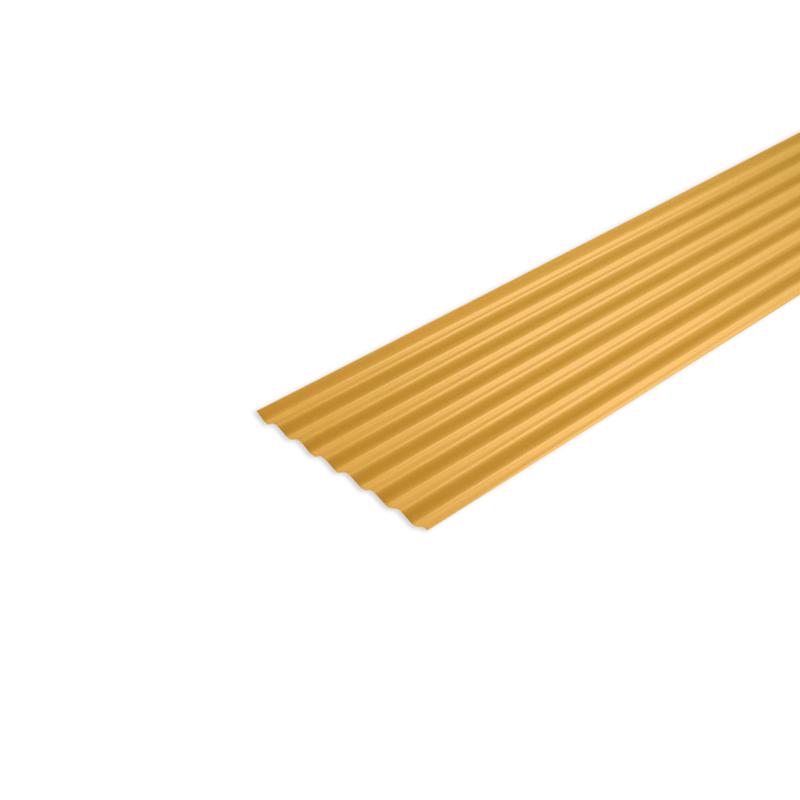 Telha De Fibra 2,44 x 0,50M Amarelo Fortlev