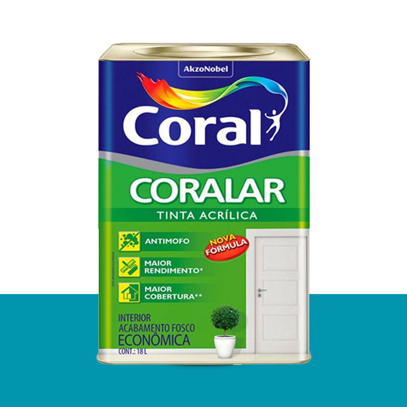 Tinta Acrílica Coralar Fosca 18L Pavão Coral