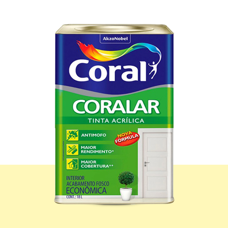 Tinta Acrilica Coralar Fosca 18L Vanilla Coral