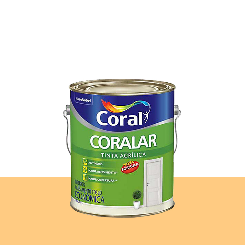Tinta Acrilica Coralar Fosca 3,6L Cromo Suave Coral