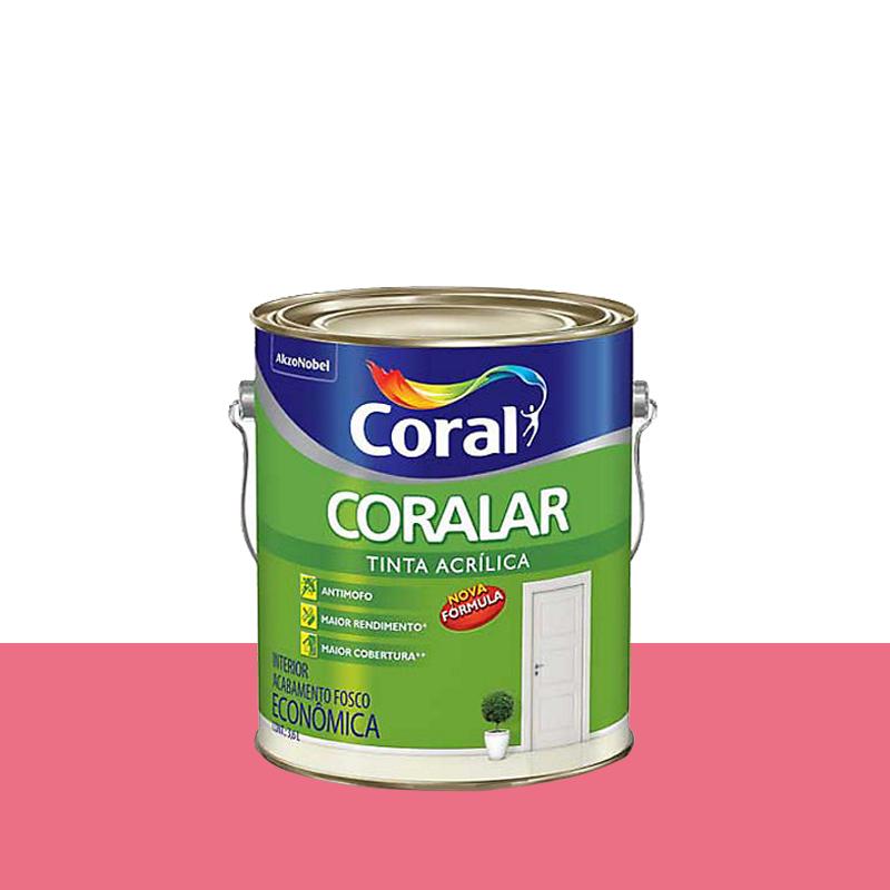Tinta Acrilica Coralar Fosca 3,6L Rosa Açai Coral
