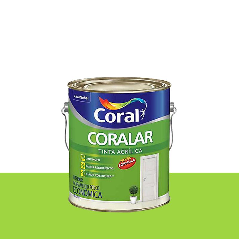 Tinta Acrílica Coralar Fosca 3,6L Verde Limão Coral
