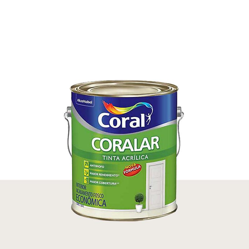 Tinta Acrilica Coralar Fosco 3,6L Branco Gelo Coral