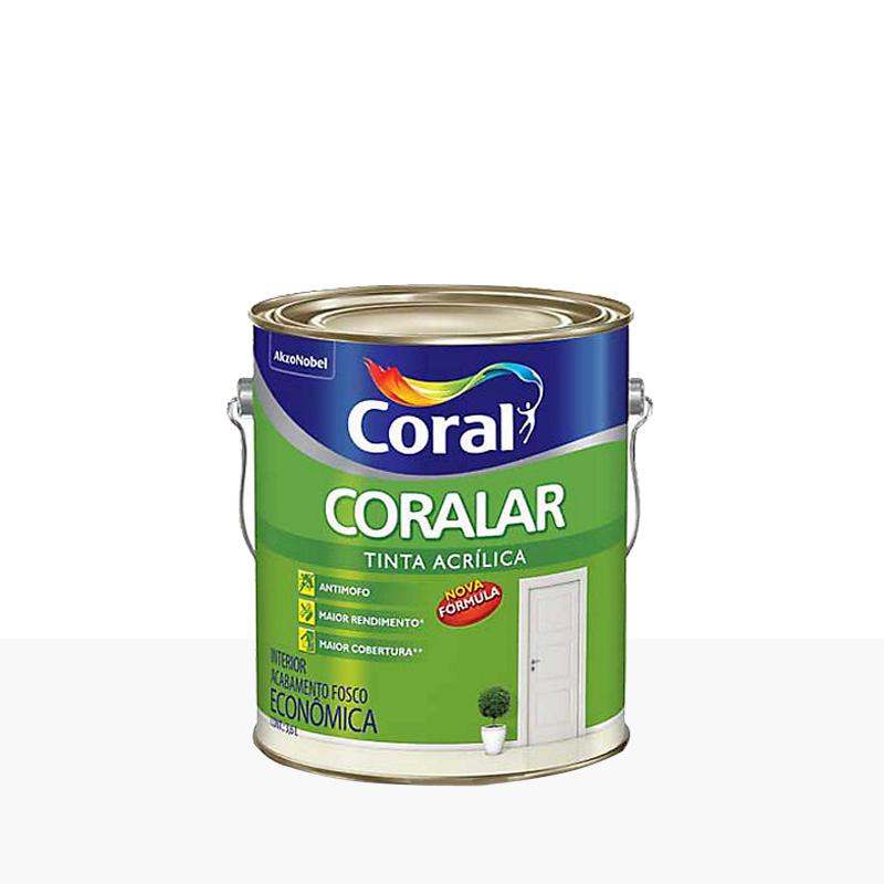 Tinta Acrílica Coralar Fosco 3,6L Branco Neve Coral