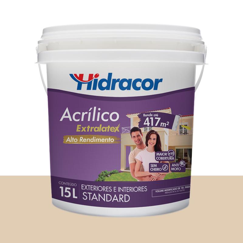 Tinta Acrílica Extralatex Fosca 15L Areia Hidracor
